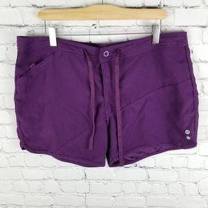POWDER ROOM | snap fly drawstring shorts